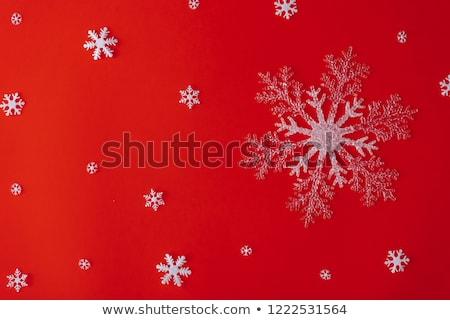 非現実的な 雪 デザイン 赤 抽象的な 波 ストックフォト © oblachko