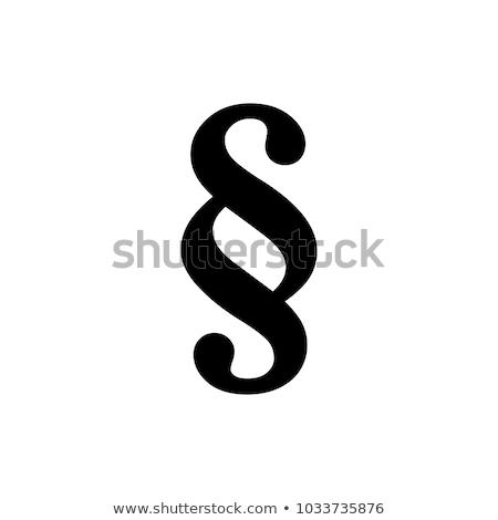 the paragraph sign Stock photo © flipfine
