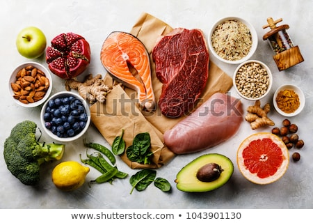 Meat and vegetables Stock photo © yelenayemchuk