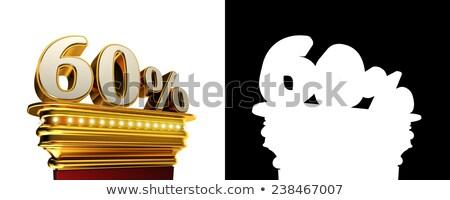60 · percentage · icon · witte · zestig - stockfoto © creisinger
