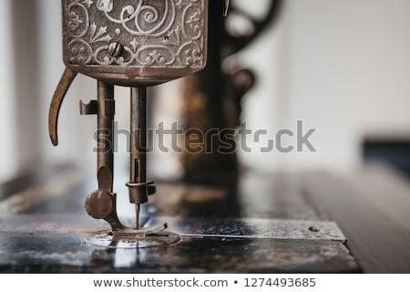 старые · швейные · машины · антикварная · черный · службе - Сток-фото © lucielang