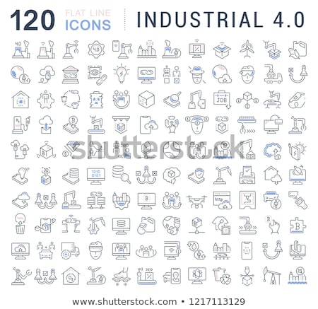 Zdjęcia stock: Flat Icons Set 4 Concepts Of Business