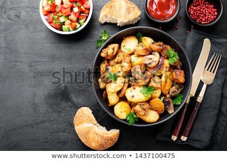 champignons · geserveerd · voedsel · olie - stockfoto © klinker
