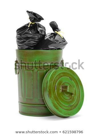 mavi · çöp · çanta · çöp · yalıtılmış · beyaz - stok fotoğraf © valeriy