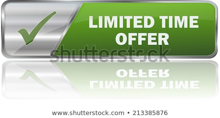 Limited Time Offer Green Vector Icon Button Stock photo © rizwanali3d