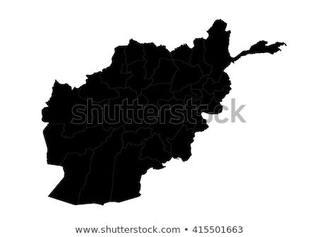 Harita Afganistan düğme bayrak simge beyaz Stok fotoğraf © mayboro1964