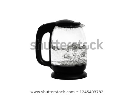Stock photo: Glass boil. On a white background.