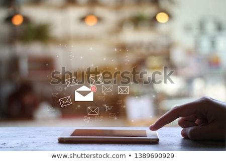 Miłości czerwony kopercie kształt serca Zdjęcia stock © devon