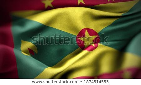 Emberek zászló Grenada izolált fehér tömeg Stock fotó © MikhailMishchenko