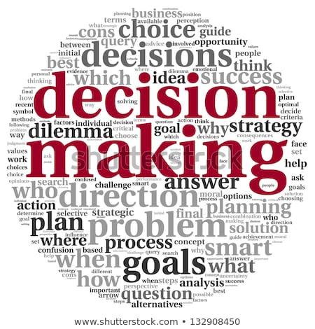 La toma de decisiones nube de palabras imagen prestados utilizado Foto stock © tang90246