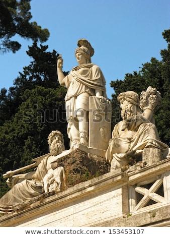 Fonte romani Itália de manhã cedo água cidade Foto stock © vladacanon
