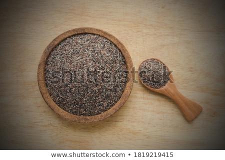 Fekete só dél Ázsia étel sötét Stock fotó © joannawnuk