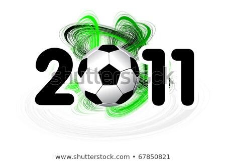 2011 piłka biały duży piłka nożna sportu Zdjęcia stock © m_pavlov