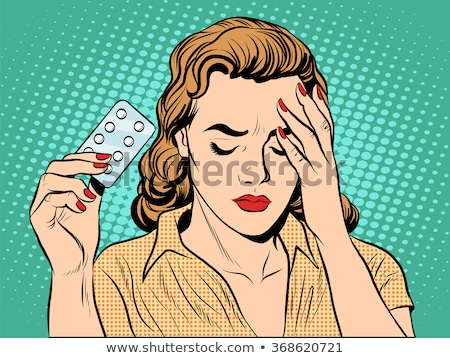 Girl wtih birth control pills Stock photo © adrenalina