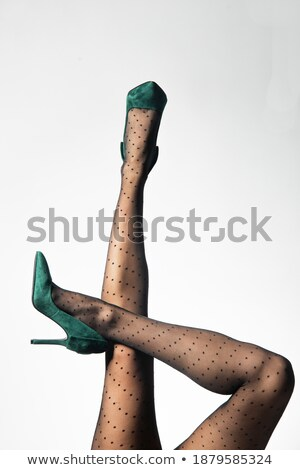 Long legs in nylon stockings, and high heel shoes   Stock photo © Elisanth