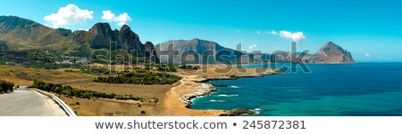 panoramic view of san vito lo capo sicily stock photo © marco_rubino