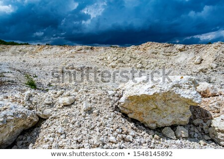 Felhő sóder izolált fehér felső kilátás Stock fotó © cherezoff