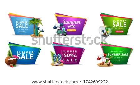 Summer Offers Pink Vector Button Icon Stock photo © rizwanali3d