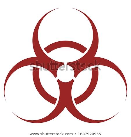 Nükleer imzalamak kırmızı vektör ikon düğme Stok fotoğraf © rizwanali3d