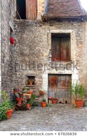 Hecho village Pyrenees Aragon Huesca Spain Stock photo © lunamarina