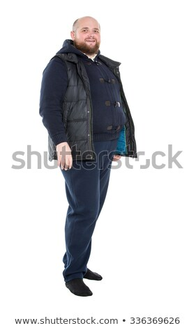 Jolly Fat Man in a Dark Warm Clothes Stock photo © Discovod