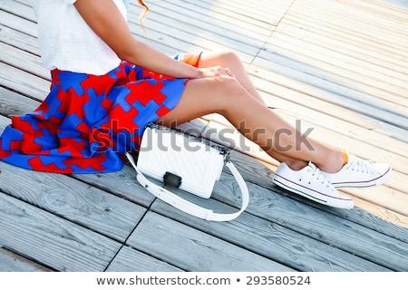 Sexy · длинные · ноги · сидят · полу · заманчивый - Сток-фото © feedough