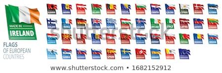 Slowakije land vlag kaart vorm tekst Stockfoto © tony4urban