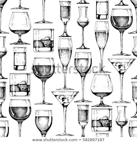 Wine vintage hand drawn sketch seamless pattern Stock photo © netkov1