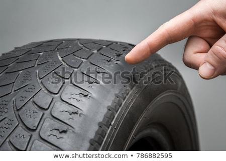 uszkodzony · opony · Fotografia · gumy · samochodu - zdjęcia stock © avq
