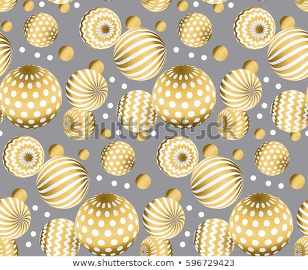 Glitter Christmas Ball with Golden Surface Stock photo © smeagorl