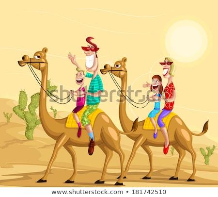 Tourist woman in Arabian Desert on vacation Stock photo © Kzenon