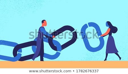 łańcucha · link · ogrodzenie · streszczenie · selektywne · focus - zdjęcia stock © sirylok