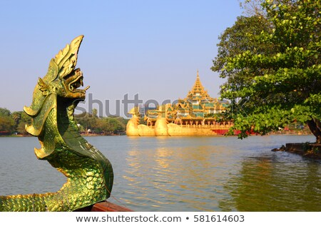 Head of snake Karaweik in Yangon Stock photo © Mikko