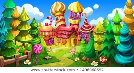 Stronghold in forest Stock photo © dmitroza