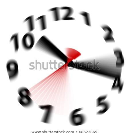 Czasu szybko analog zegar sześć dwadzieścia Zdjęcia stock © lincolnrogers