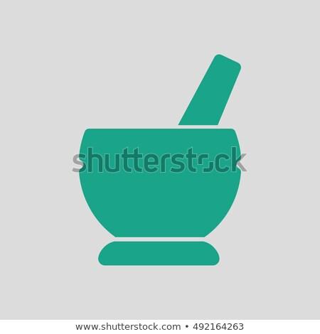 Stock photo: Mortar and pestel icon
