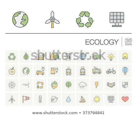 ecology doodle infographic elements stock photo © conceptcafe