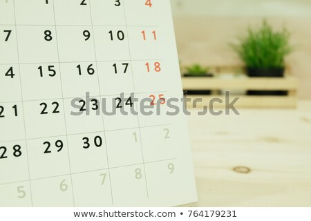 Deadline sign on wooden table Stock photo © fuzzbones0
