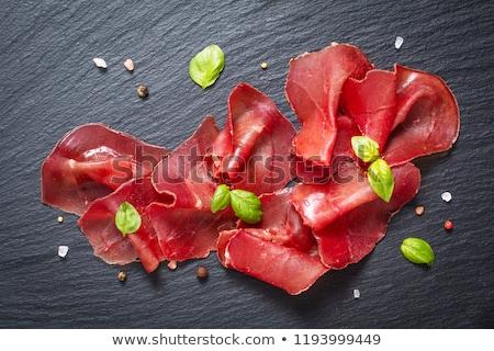 Thin-sliced smoked beef Stock photo © Digifoodstock