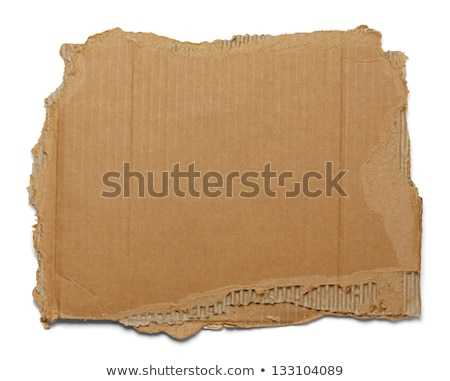 Torn corrugated cardboard. Stock photo © pakete