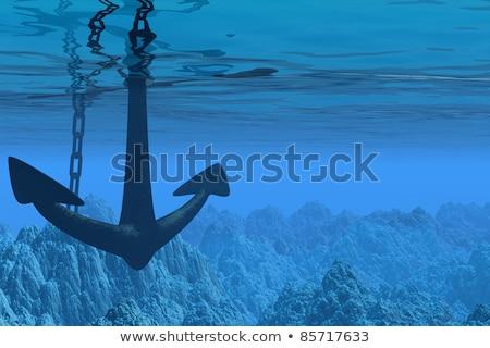 Ancora mare illustrazione acqua pesce crociera Foto d'archivio © adrenalina
