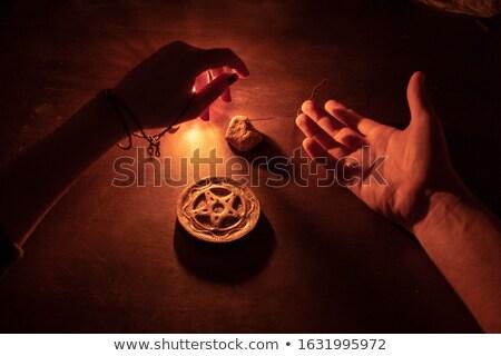 Foto stock: Antigo · homem · pedra · rocha · pedras
