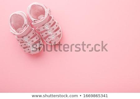 Nino zapatos piso textura madera Foto stock © fuzzbones0