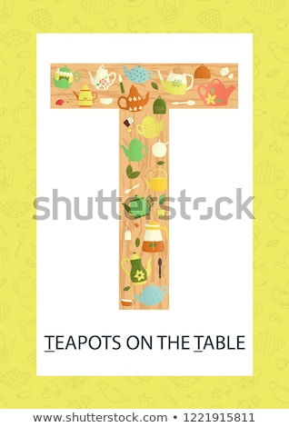 Flashcard letter T is for tea Stock photo © bluering