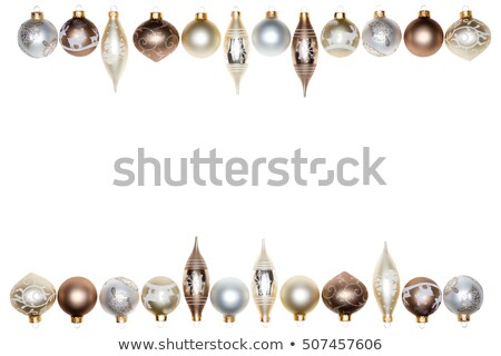 Double Christmas festive border in wintry tones Stock photo © ozgur