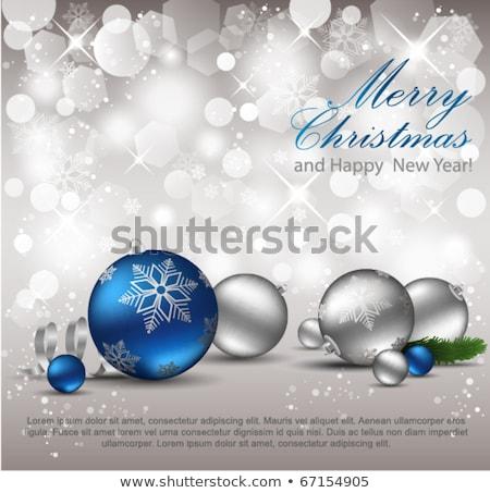 silver holidays card with xmas ball vector illustration stock photo © carodi