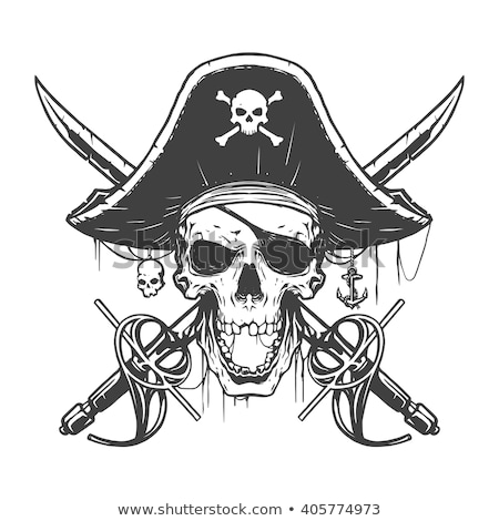 pirate skull with sabers stock photo © romvo