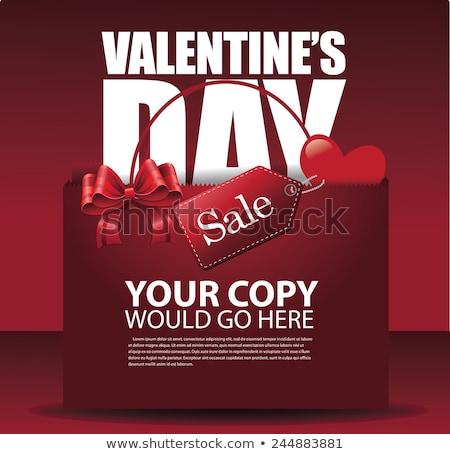 valentijnsdag · verkoop · Rood · hart · vector - stockfoto © beholdereye