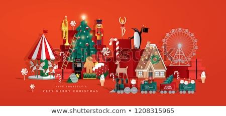 Stok fotoğraf: Noel · ağacı · oyuncaklar · neşeli · Noel · mutlu · tatil