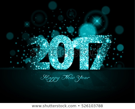 2017 happy new year party event flyer template with abstract sha Stock photo © SArts